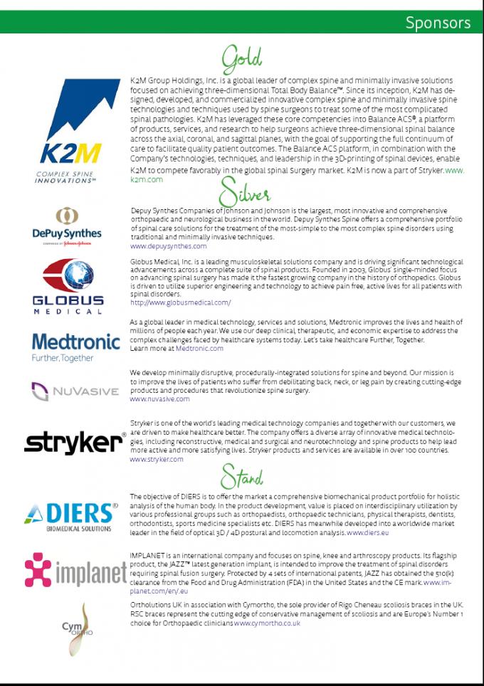 Sponsorship - British Scoliosis Research Foundation